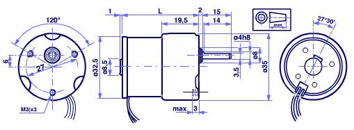 MicroMotors BS138F DC-Motor mit Stirnradgetriebe