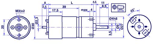 MicroMotors HL149 und HV155 DC Motor mit Stirnradgetriebe