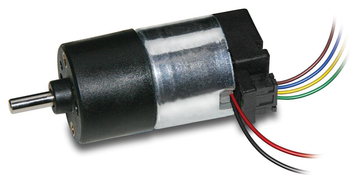 L149 DC Motor mit Stirnradgetriebe mit Encoder 2S 2x3 Pulse / Umdrehung