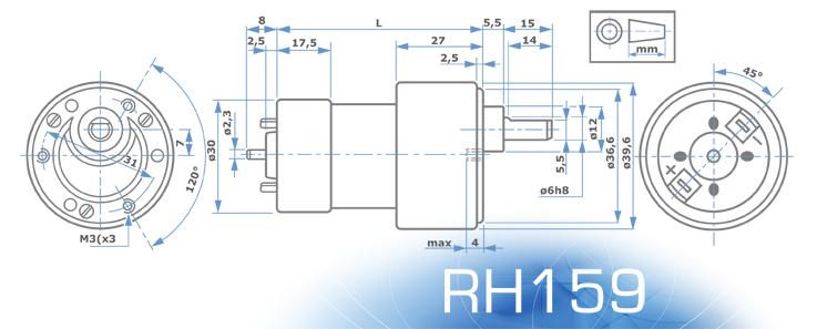 MicroMotors RH159_Abmessungen