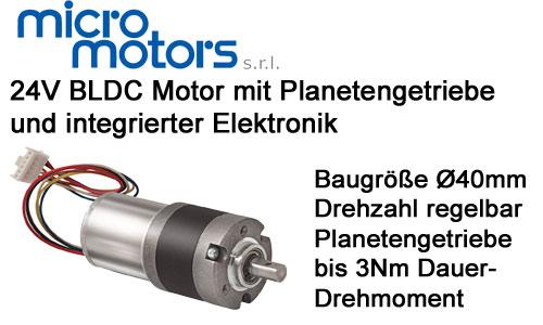 MicroMotors BL192 Brushless Motor mit Planetengetriebe
