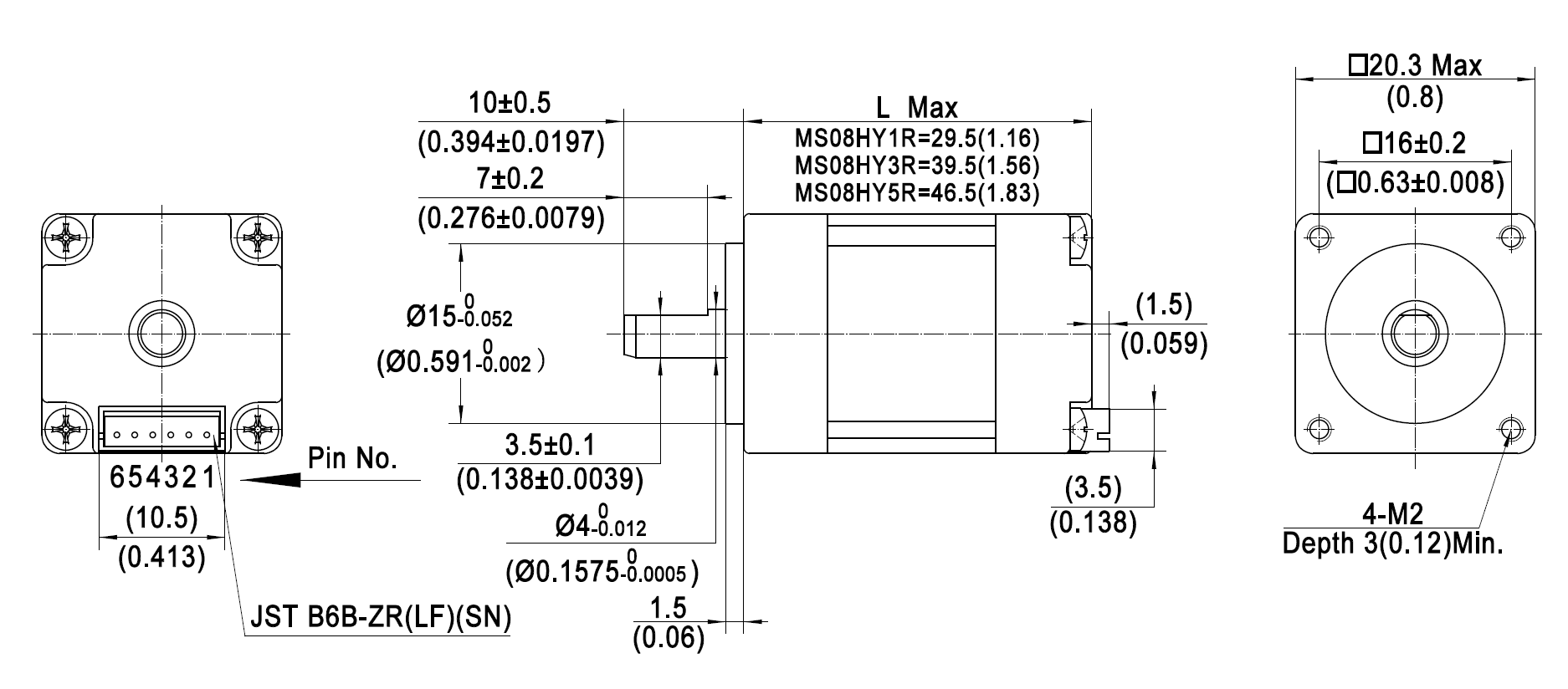 Hybrid Schrittmotor 20x20mm