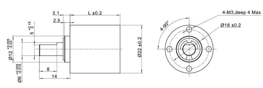 Planetengetriebe Hybrid-Schrittmotor