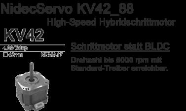 NidecServo KV42_88 Hybridschrittmotor