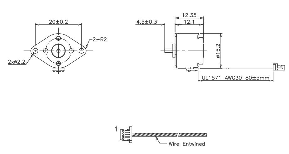 15mm PM Schrittmotor Stegia