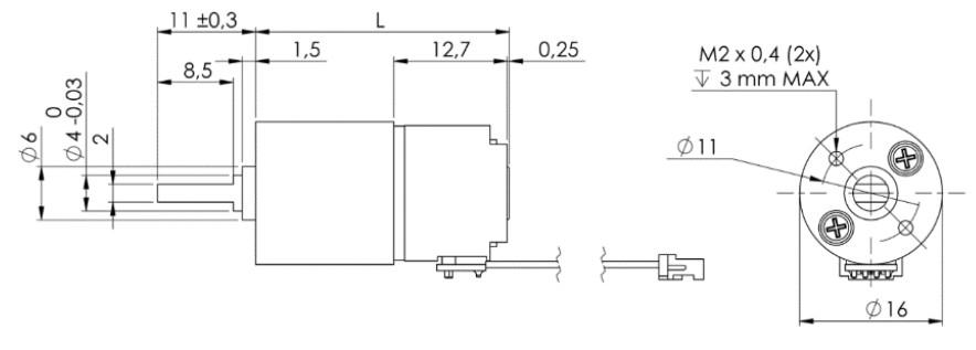 Stegia 15PM Stepper mit 16mm Getriebe PM Schrittmotor mit Getriebe