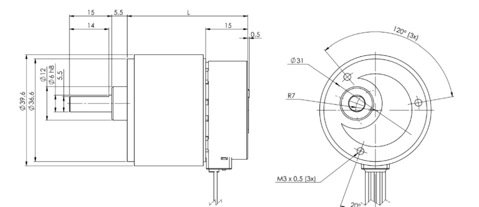 Stegia 35PM Stepper mit Ø 41mm Getriebe MicroMotors