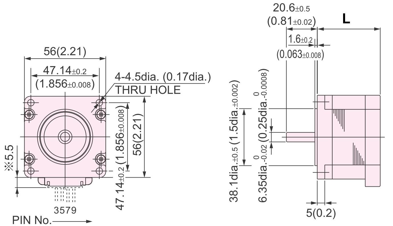 NIDEC Servo Hybrid Schrittmotor - NEMA 23  56x56mm