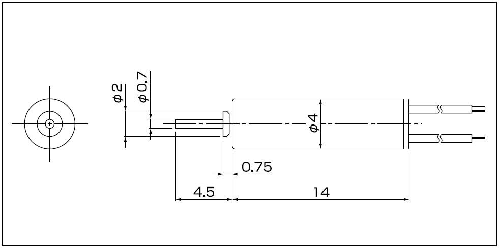 DC Coreless Motor 4mm C.I. Takiron