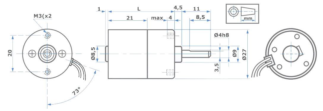 Abmessungen L149 MicroMotors