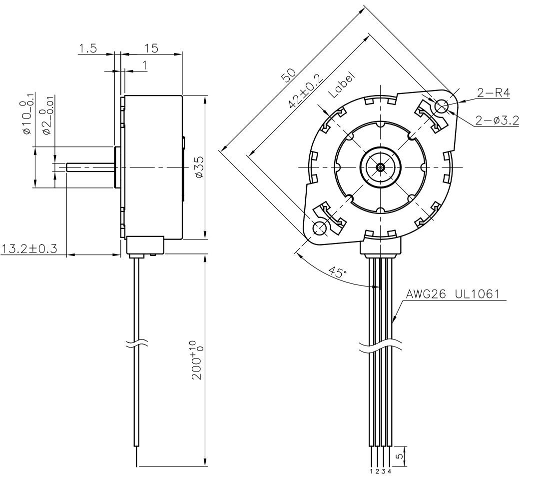 Stegia PM 35mmSchrittmotor flach hohes Drehmoment
