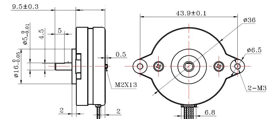 SMOOTH Hybrid Schrittmotor Flacher Motor 0.9° Schrittwinkel