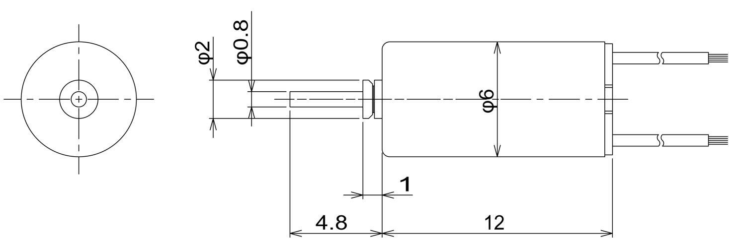 A6mm DC Coreless C.I. Takiron